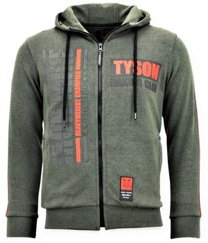 Local Fanatic Sudaderas con Cremallera - Tyson Boxing Iron Mike Chaqueta - Verde