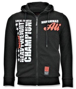 Local Fanatic Sudaderas con Cremallera - Muhammad Ali Champion Chaqueta - Negro