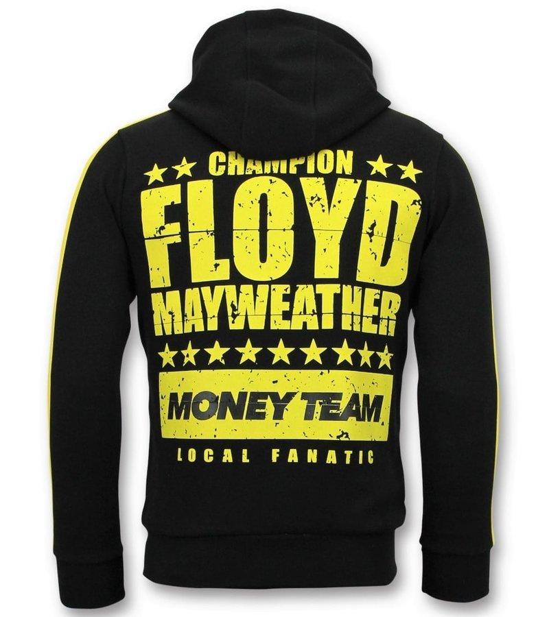 Local Fanatic Sudaderas con Cremallera - TMT Floyd Mayweather - Negro