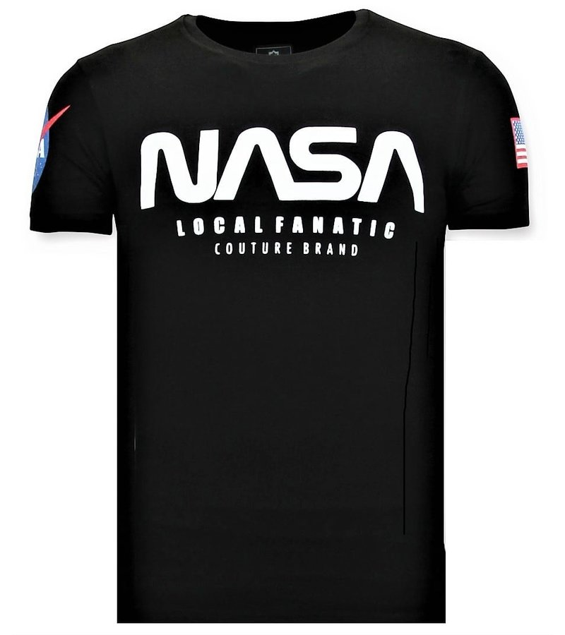 Local Fanatic Camiseta de Hombre - NASA American - Negro