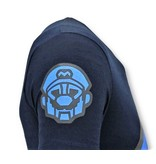 Local Fanatic Camiseta de Hombre - Impresión de Mario Neon - Azul