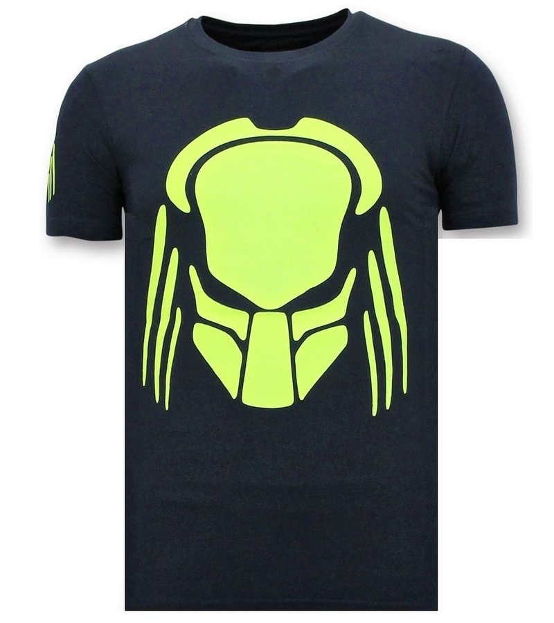 Local Fanatic Camiseta de Hombre - Predator Neon Print - Azul