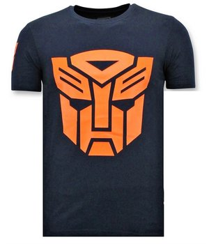 Local Fanatic Camiseta de Hombre  - Transformers Print - Azul