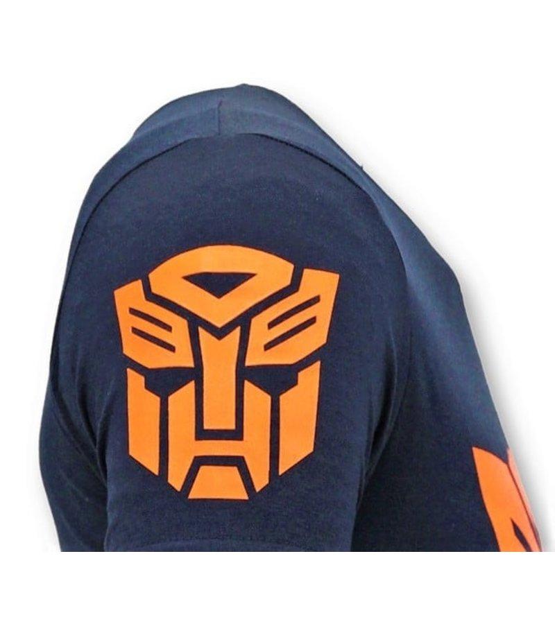 Local Fanatic Camiseta de Hombre  - Transformers Print - Azul