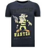 Local Fanatic Camiseta Piedras - The Chief Wanted - Azul