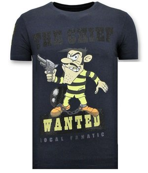Local Fanatic Camiseta Piedras - The Chief Wanted - Azul