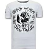 Local Fanatic Camisetas Estampadast - Sons of Anarchy MC - Blanco