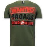 Local Fanatic Camisas Para Hombre -  Chucky Imprint - Verde