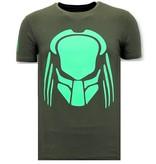 Local Fanatic CamisetasHombre -   Impresión Predator Neon - Verde