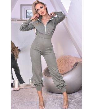 CATWALK Tania capucha Loungewear Mono - Mujer - Verde