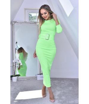 CATWALK Eliana Vestido Negro Midaxi - Mujer - Verde