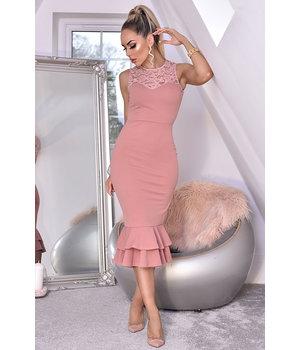 CATWALK Miranda vestido de cola de pescado cordón - Mujeres - rosa