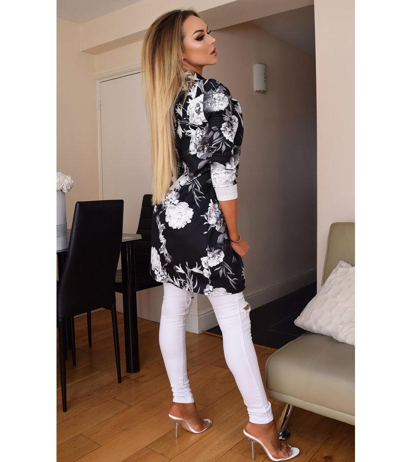 CATWALK Audrey floral palangre Jacket - Mujer - Negro