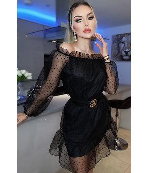 CATWALK Lilly lunares vestido Bardot - Mujer - Negro