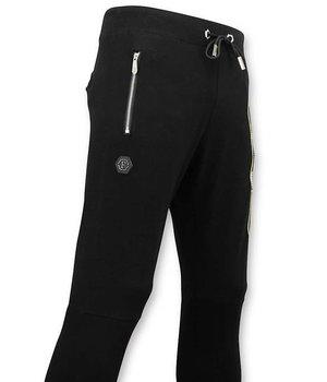 Enos Corredores de los hombres con Print - pantalón cabeza Doot - Negro