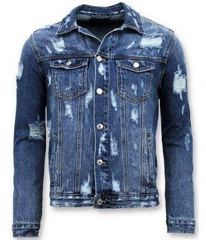 Enos Denim chaqueta de los hombres - vaqueros rasgados - Azul