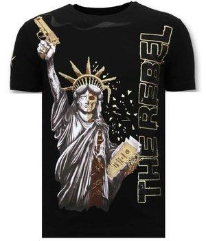 Local Fanatic Camiseta de los hombres de lujo - El rebelde - Negro