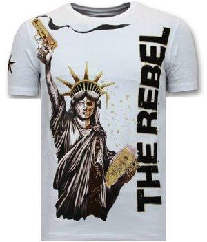 Local Fanatic Camiseta exclusiva de los hombres - El rebelde - Blanco