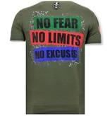 Local Fanatic Camiseta exclusiva de los hombres - El Joker Hombre - Verde