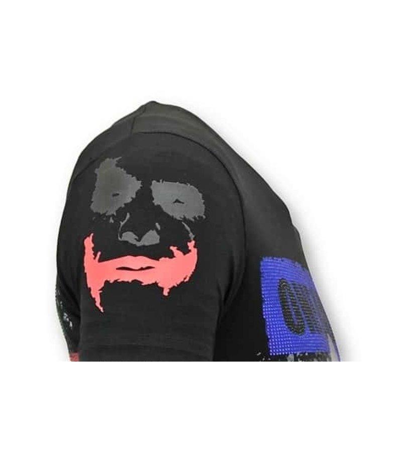 Local Fanatic Camiseta de los hombres de lujo - El Joker Hombre - Negro