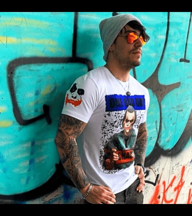 Local Fanatic Tough Hombres camiseta - El Joker Hombre - Blanco