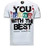 Local Fanatic Camiseta exclusiva Hombre - Chucky Childs Play - Blanco
