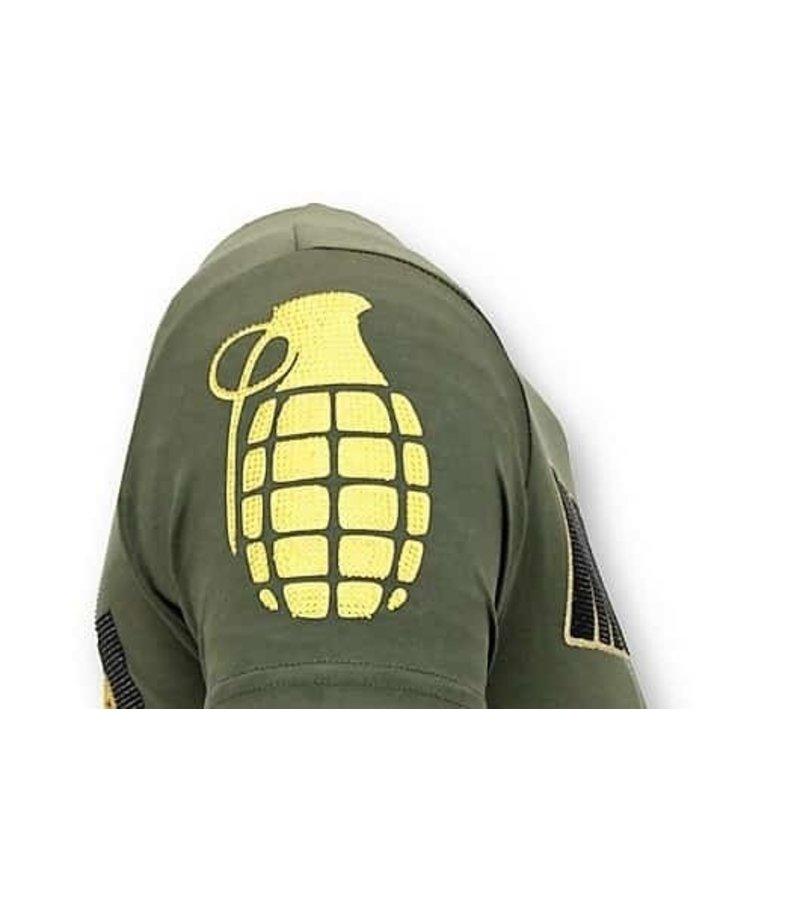 Local Fanatic Camiseta de los hombres de lujo - Cosa Nostra Mafioso - Verde