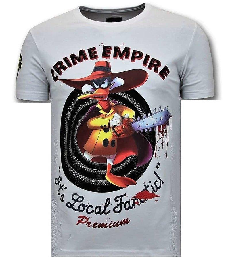 Local Fanatic Camiseta de los hombres de lujo - imperio del crimen - Blanco