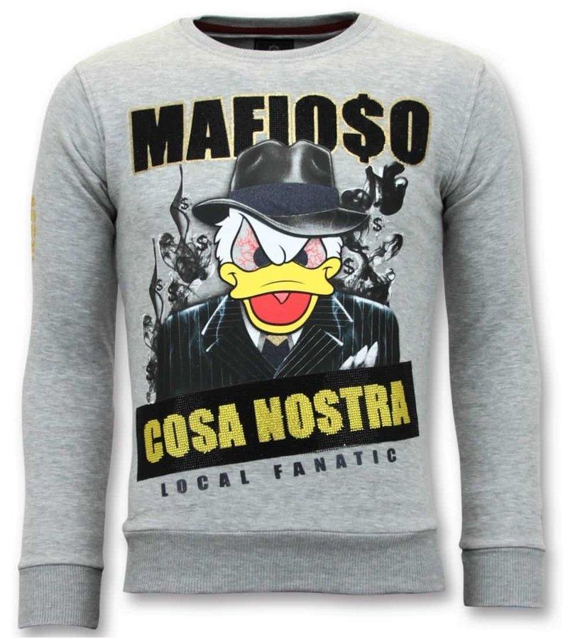 Local Fanatic Exclusivo de los hombres de - Cosa Nostra Mafioso - Gris