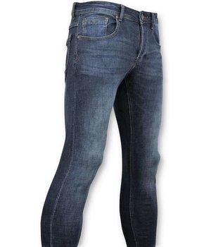 True Rise Hombres clásicos de los pantalones vaqueros pantalones vaqueros lavados - - D3060 - Azul