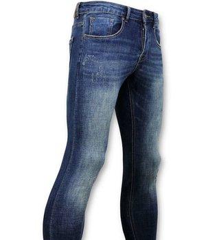True Rise Clásico básico Jeans Hombres - D - Azul