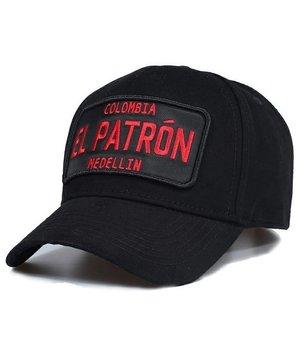 Enos Gorra de béisbol de los hombres - El Patrón Rojo - Negro