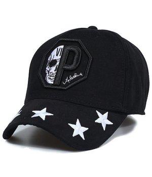 Enos Gorra de béisbol de los hombres - la estrella del cráneo - Negro