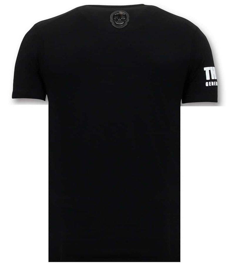 Local Fanatic Fresco De La Camiseta De Los Hombres - Padrino Corleone - Negro