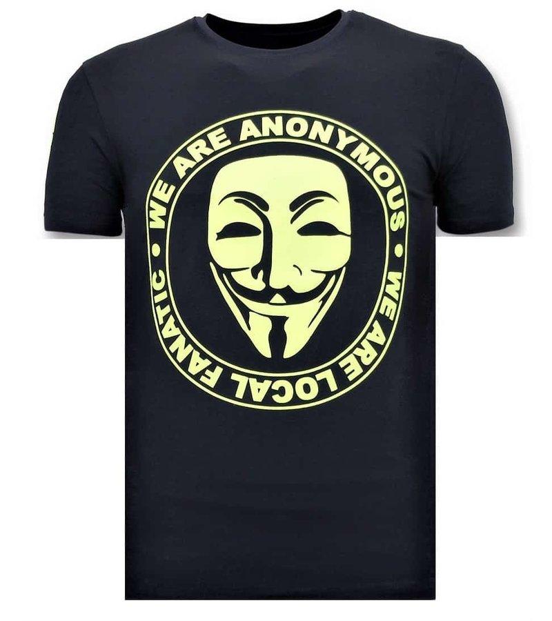 Local Fanatic Camiseta Exclusiva De Los Hombres - Somos Anónimos - Azul
