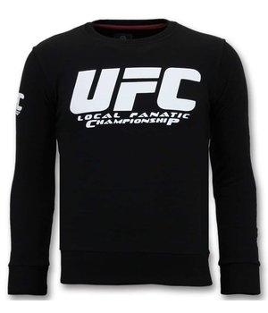 Local Fanatic UFC Campeonato  - Negro hombres De Lujo  - Negro
