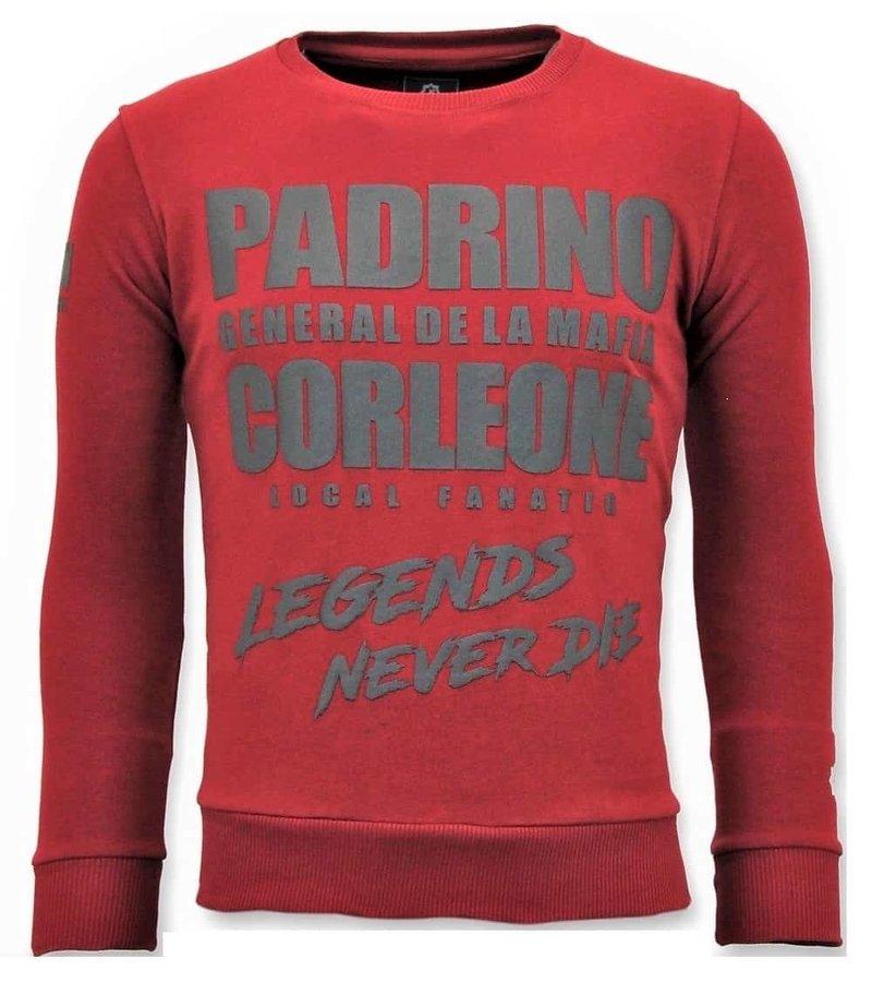 Local Fanatic Tough Hombres Suéter - Padrino Corleone - Rojo