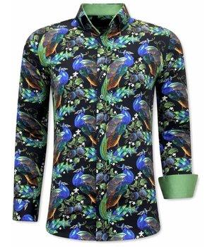 Gentile Bellini Camisas de Hombre Estampadas - 3065 - Negro