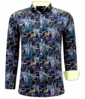 Gentile Bellini Camisas Exclusivas Hombre - 3067 -Amarillo /negro