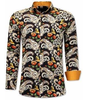 Gentile Bellini Camisas Estampadas Para Hombre - 3073 - Marrón