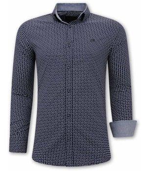 Gentile Bellini Camisas de hombre italianas - Slim Fit - 3077 - Azul