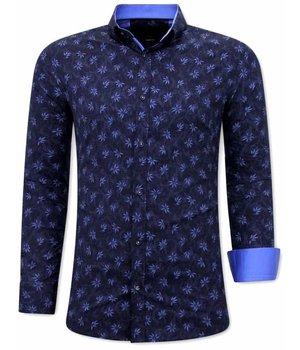 Gentile Bellini Camisas de Hombre  Medida - Slim Fit - 3074 - Azul