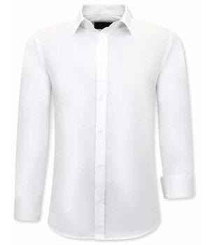 Gentile Bellini Camisas Blancas Hombre - Slim Fit - 3079 - Blanco