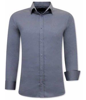 Gentile Bellini Camisa Clasica Hombre -  3080 - Gris