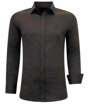 Gentile Bellini Camisa Clasica hombre  - 3084 -  Marrón