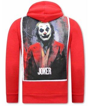 Tony Backer Joker Sudaderas Para Hombre -Rojo