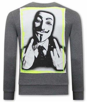 Tony Backer Anonymous Sudaderas Hombre - Gris