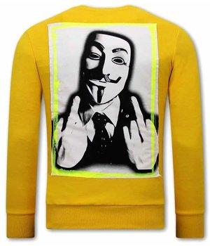 Tony Backer Anonymous Sudaderas Hombre - Amarillo