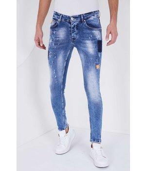 True Rise Jean Roto Hombre  Slim Fit - 5301A - Azul