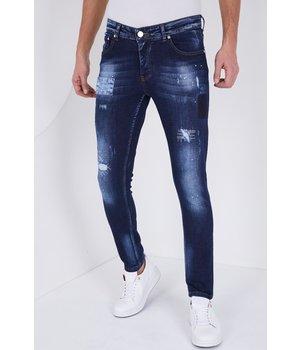 True Rise Jeans Hombre Rotos - Slim Fit - 5201D - Azul